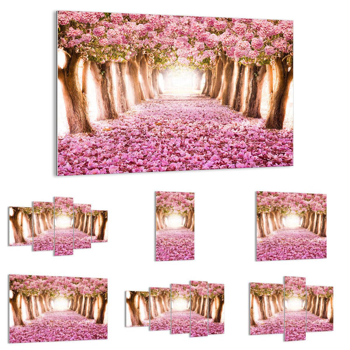 GLASS PRINTS Image Wall Art tree flowers cherry nature 2794 UK