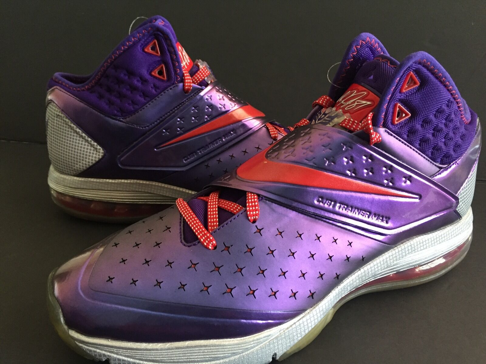NIKE CJ81 Trainer Max Megatron  Purple Red Athletic Running shoes Mens Size 10.5