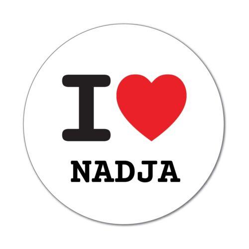 I love NADJA Aufkleber Sticker Decal 6cm