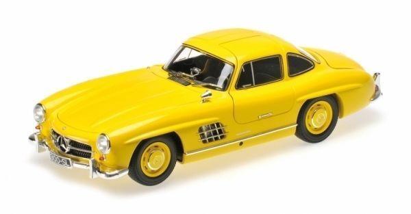 MINICHAMPS 1954 Mercedes Benz 300 300 300 SL W198 Yellow 1 18 LE 336pcs New Item  12b20e