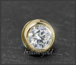 Diamant-585-Gold-Anhaenger-mit-0-61ct-Brillant-VVS-Gelbgold-Gleiter-Reiter-NEU