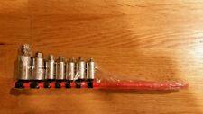 Matco Tools 14 And 38 Dr 7 Piece Stubby Hex Bit Socket Driver Set Sabxys7r