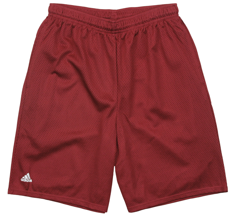 Adidas Herren Mesh Basketball Shorts - Weinrot