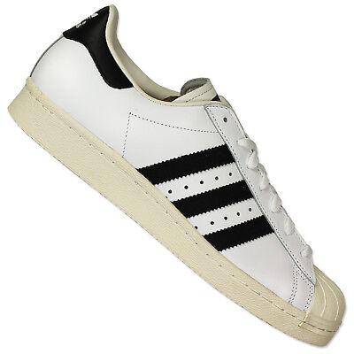 Adidas Originals Superstar Sst 80s Hombre Piel Zapatillas Blanco Negro | eBay