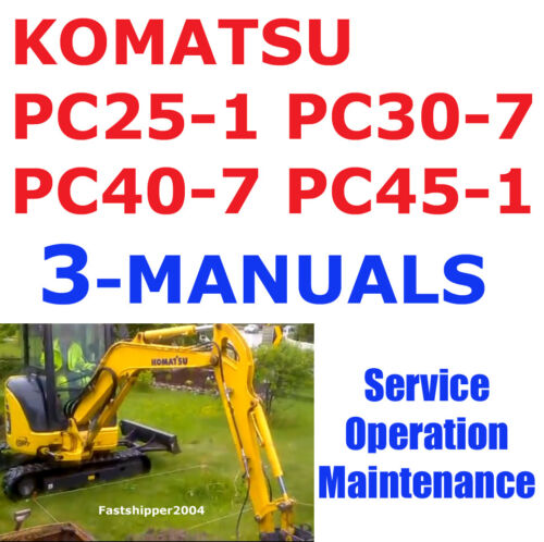 MANUALS CD OPERATION MAINTENANCE KOMATSU PC25 PC30 PC40 PC45 SERVICE MANUAL 3