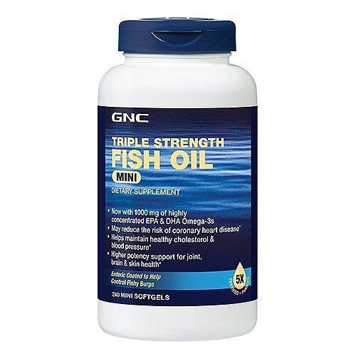 Buy GNC Triple Strength Fish Oil Mini Softgels 240 EA online  5aed63df679