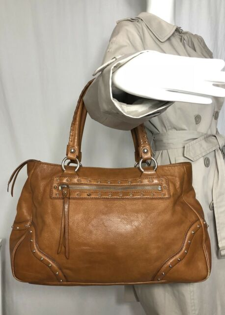 4e8d07e97832 Michael Kors Dillon Large North South Brown Signature Satchel Tote Bag