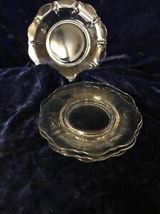 4 verre clair dessert assiettes Festonné Edge-afficher le titre d`origine YyfaX0Ur-09165015-777832444