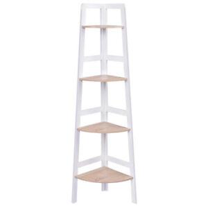 Details About 12x Wooden Ladder Shelf 4 Tier Corner Shelves Bookcase Plant Flower Units Uk