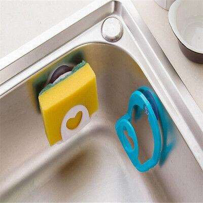 Brush Sponge Sink Draining Towel Rack Suction Cup Base Washing Kitchen Holder