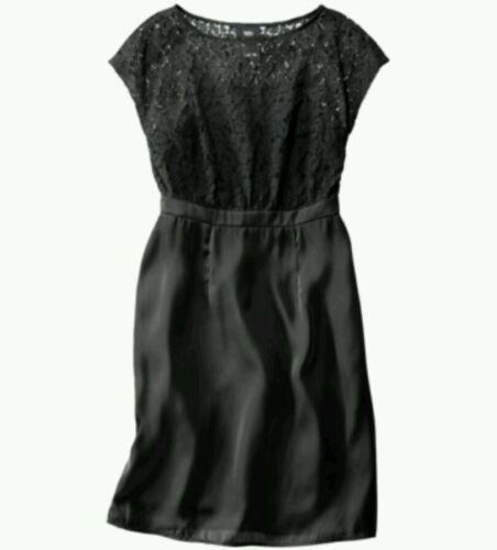 ☆CLOSEOUT SALE ☆    *NEW* Mossimo Women/'s Lace Overlay Bodice Dress Black Size 2