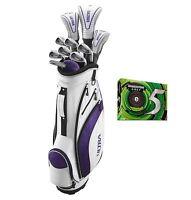 Wilson Ultra Ladies Standard Right-handed Golf Set + Bridgestone E5 Golf Balls