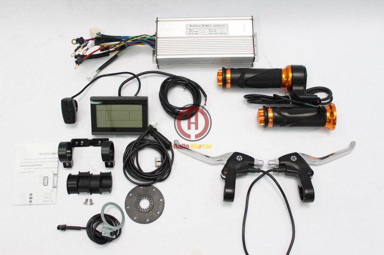 48V 1000W  Brushless DC Sine Wave Controller+LCD Panel+Thredtle+PAS+Sensor+Brake  wholesale cheap