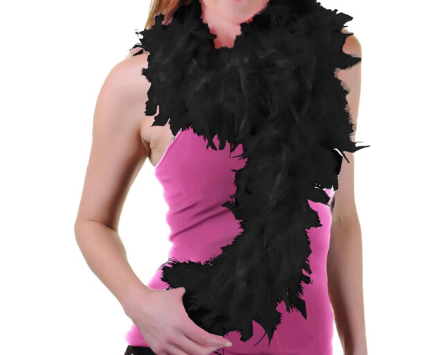 FANCY DRESS FEATHER BOA GATSBY BURLESQUE PARTY FLAPPER 20/'S HEN DO COSTUME PROP