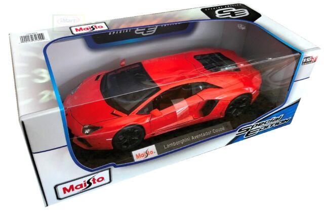 Maisto Lamborghini Aventador Coupe Special Edition DieCast Car 1:18 RED NEW