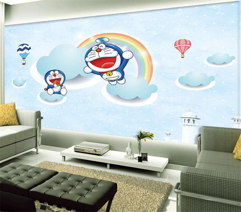Rainbow Tinkle Cat 3D Full Wall Mural Photo Wallpaper Printing Home Kids Decor