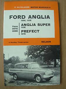 vintage ford anglia 105e 123e ford prefect 107e 1959 67 motor manual rh ebay co uk ford anglia workshop manual pdf ford anglia 105e owners workshop manual