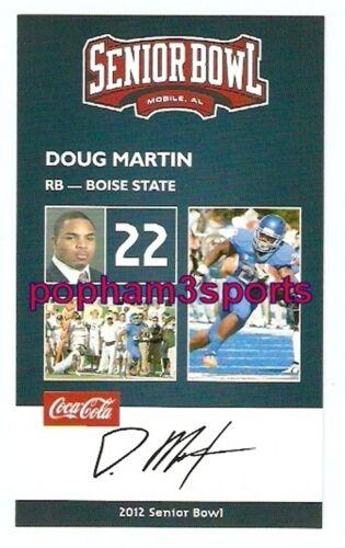 DOUG MARTIN BOISE STATE BRONCOS 2012 SENIOR BOWL CARD ST