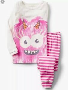 Gap-Pjs-BabyGap-Pink-Monster-Sleep-Set-Toddler-Girl-Halloween-Pajama-3T-4-5T-NWT