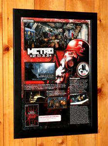 Metro-2033-Video-Game-Rare-Small-Poster-Ad-Page-Framed-Xbox-360-Live-THQ