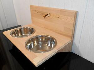 Bol pour chien / bol pour chien, doublure alimentaire fixée au mur Napfbar, 2x2400 Ml (203dd)