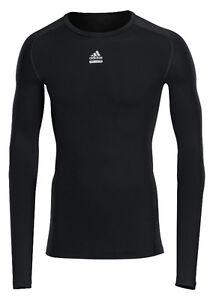 adidas-Techfit-schwarz-Laufshirt-Sportshirt-Gr-XS-S-XXL-Funktionsshirt