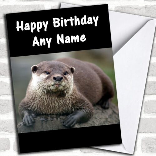 Otter Personalised Birthday Card
