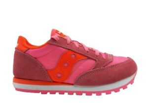Scarpe per bambina Saucony Jazz SK163330 rosa sneakers casual sportive stringate