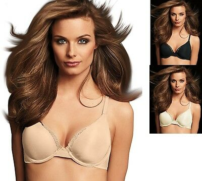 Maidenform Comfort Devotion Memory Foam Underwire T Shirt Bra DM9501 Ivory