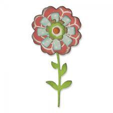NEW - Sizzix Thinlits Die Set 6PK - Flower Layers & Stem