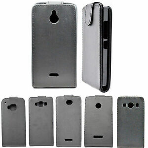 Black-Flip-Leather-Skin-Phone-Accessories-Case-Cover-For-Samsung-Sony-LG-Phone