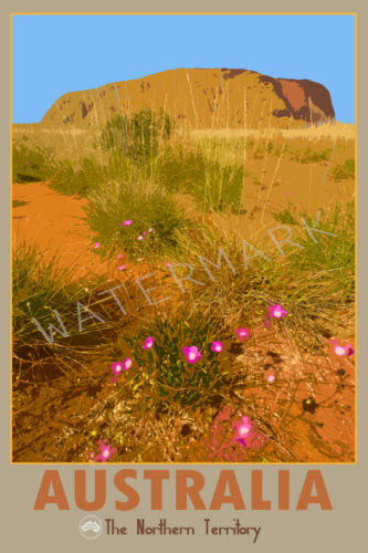 Limited Edition of 250 Signed Art Iconic Northern Territory Scenic Travel Print
