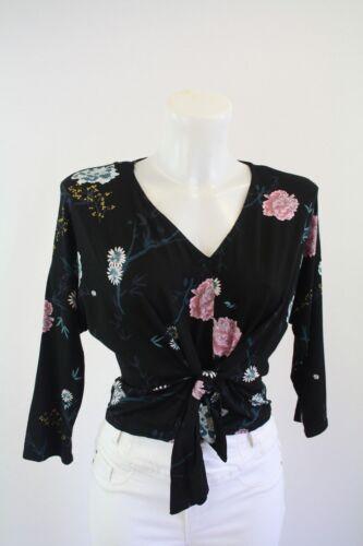 Ladies new Black ex primark top blouse size 4 6  8 10 12 14 16 18 20