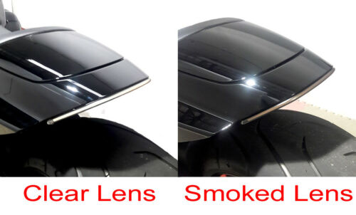 Smoke//Vert Rear Fender Light Bar Kit with Side Mount Tag Bracket for FXDR 114