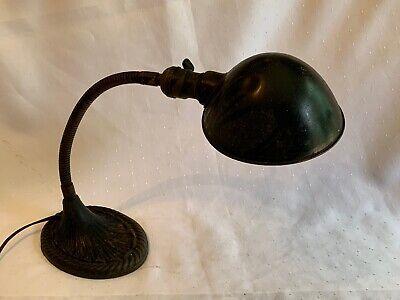 Antique Gooseneck Lamp Cast Iron Base