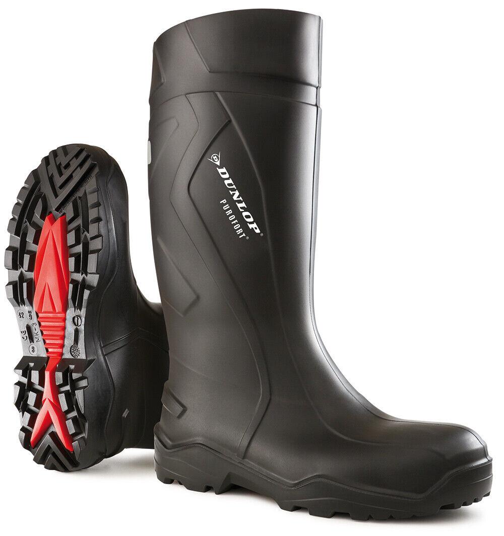 Dunlop C762041 Purofort Safety Wellington laars zwart (afmetings 6--13)