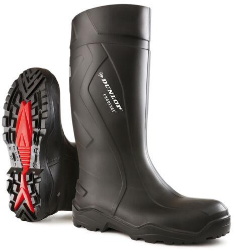 Safety Wellington Boot noir Dunlop C762041 Purofort tailles 6-13