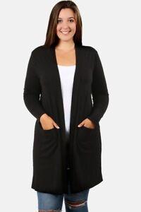 Plus-Size-Cardigan-Jacket-Sweater-1X-2X-3X-Free-Shipping