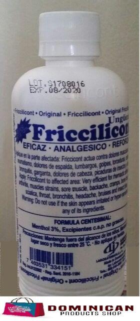 2 Friccilicont ungüento 10 oz dolor de espaldas ciatica reumatismo bronquitis