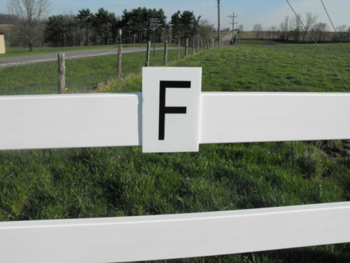 Dressage Letters Set Of 8 6x9 placards..ALL WEATHER DURABLE MOUNT ANYWHERE