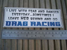 Drag Racing sticker decal for toolbox car bike etc strip nos quarter mile funny