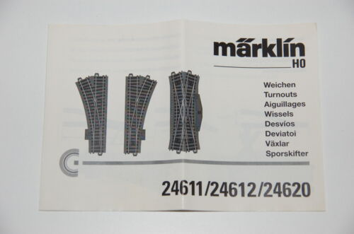 Märklin H0 Original Description pour Aiguillages 24611 24612 24620 Voie C Top