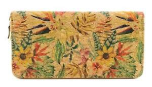 294e95a43 Handmade Natural Cork Women's Wallets Vegan Zipper Wallet Tropical ...