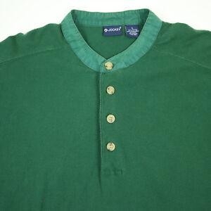 Vtg-Dockers-Band-Collar-Henley-Shirt-Mens-LARGE-90s-Drape-Fade-Surf-Skate-Grunge