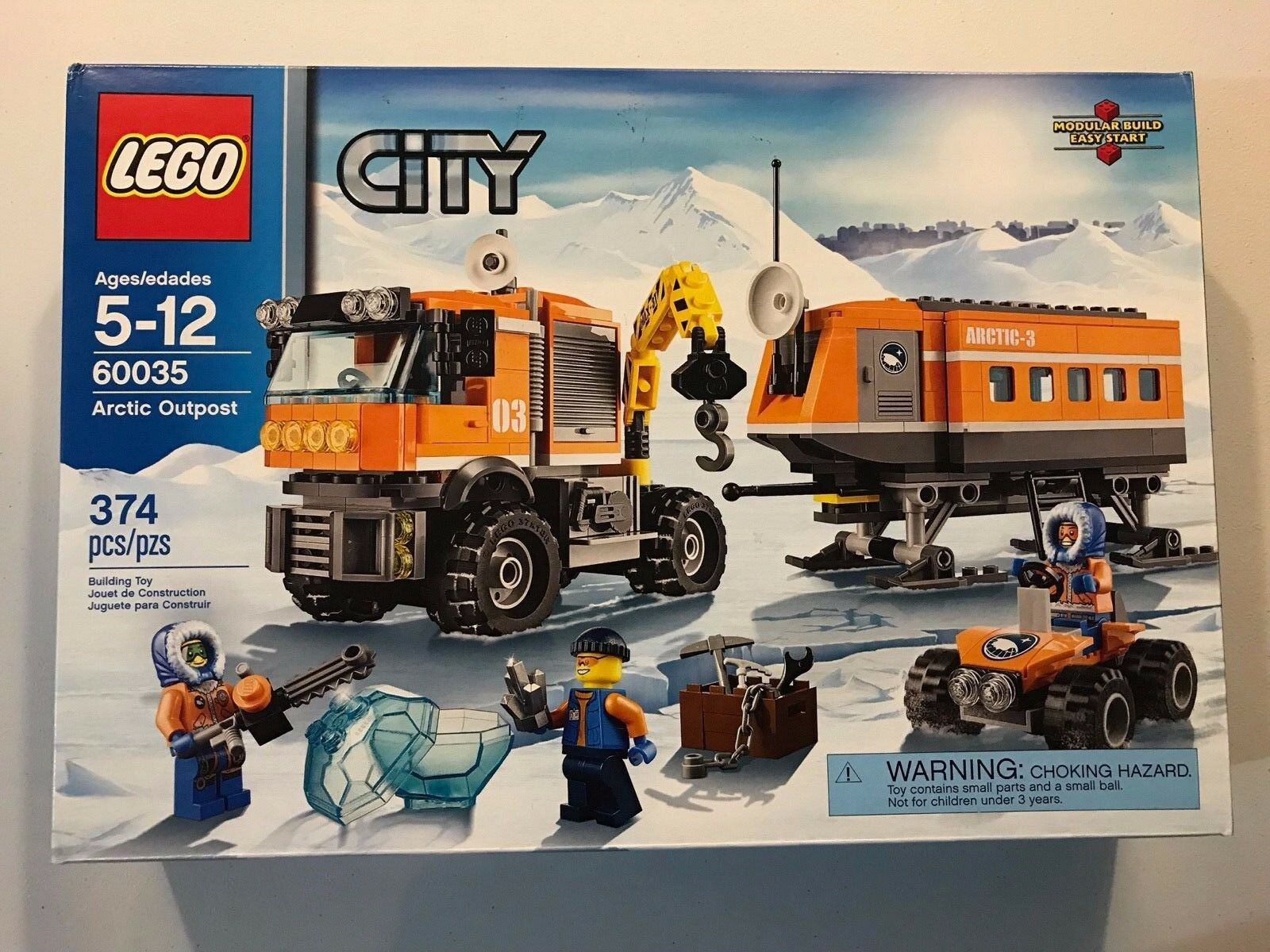LEGO City 60035 Arctic Outpost Brand New Factory Sealed 374 pieces 2014 RetiROT