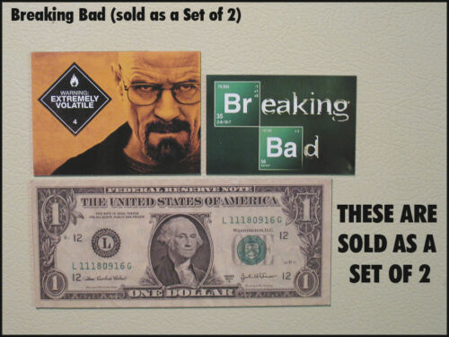 Fridge Fun Refrigerator Magnet BREAKING BAD Set B Set of 2 Logo /& Bryan Cranston