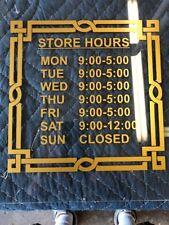 Custom Business Store Hours Vinyl Window Decal 85x11 Bonus Outdoor Sign Door