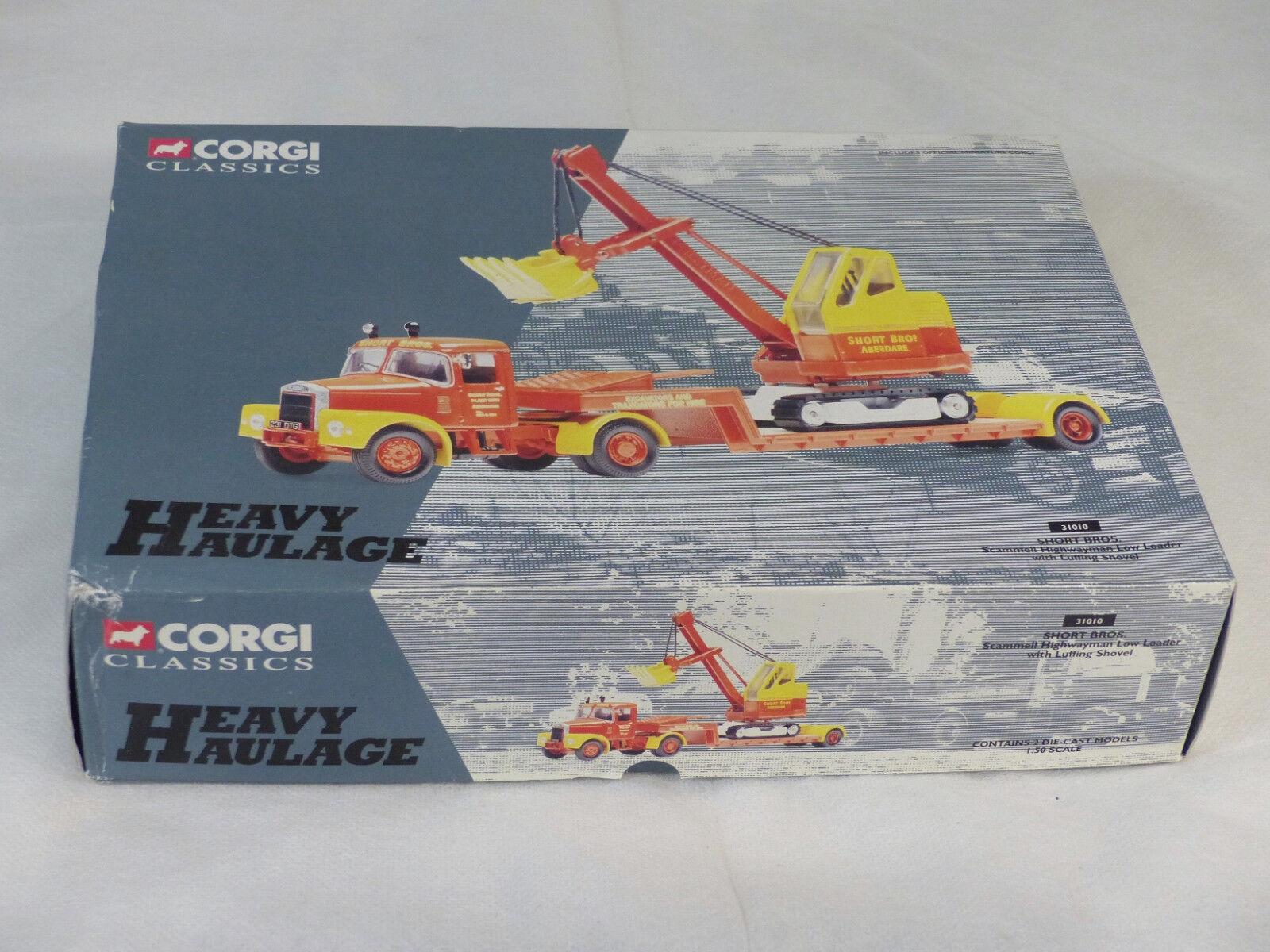 Corgi Heavy Haulage 31010 Short Bros. Camion SCAMMELL & Pelle 1 50° NM B  ( A9)