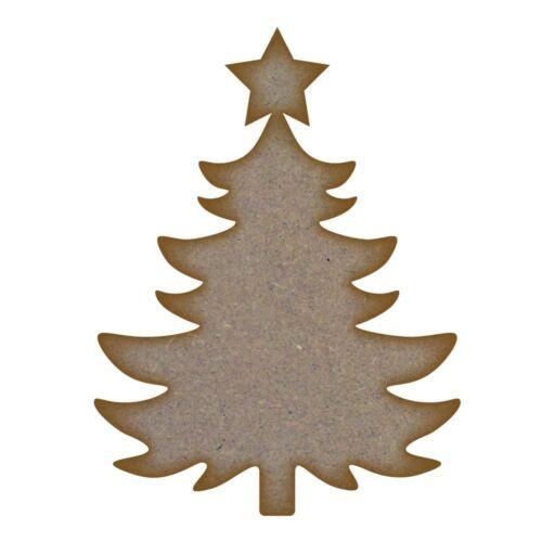 Mdf Corte Láser Craft espacios en blanco en varios tamaños 2 Diseño del árbol de Navidad
