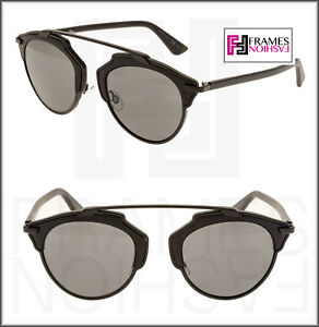 bdc49706a2801 CHRISTIAN DIOR SO REAL Matte Black Grey Metal Mirrored Sunglasses ...